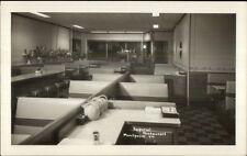 Montpelier VT Imperial Restaurant Interior Real Photo Postcard