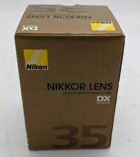 Open Box Nikon Nikkor AF-S DX 35 mm f/1.8G Lens for Nikon -SB0879
