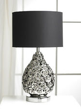 Modern Contemporary Silver Rose Chrome Table Lamp