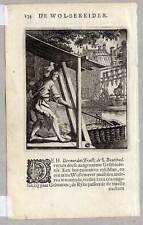 Wolle-De Wolbereider-Textilien - Kupferstich Jan Luyken 1717