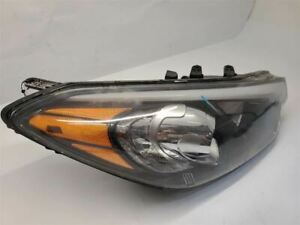14-16 KIA FORTE RH Passenger Headlight Halogen Without LED Accents