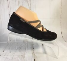 Women's Shoes Size 6.5 M Leather Slip On Mephitso Brown Leather Shock Absorb