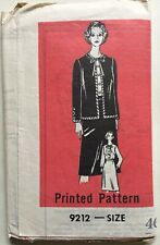 VTG 70s Printed Sewing Pattern 9212 Jacket, Blouse & Skirt  Size 46