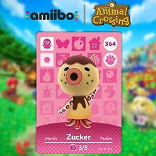 Zucker Animal Crossing New Horizons NFC Card #364 amiibo Card Series 4 Ns,3Ds