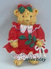 Vintage Collectible 1991 Hallmark Cards Christmas Victorian Bear Pin Xlp3107