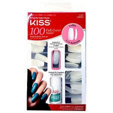 KISS BALLERINA COFFIN 100 TIPS #71167 100PS24 LONG FULL COVER NAILS DURABLE