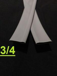 "3/4"" inch 19mm  SLATE GRAY  2:1 heat shrink tubing polyolefin (1 FOOT)"