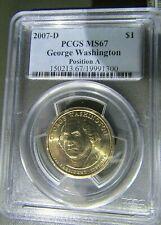 2007-D George Washington PCGS MS67 Position A
