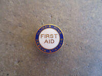 vintage 1940 Illinois Mine Rescue Stations mining first aid lapel pin