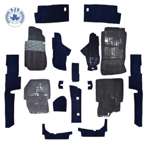 Carpet Set With Insulation For Mercedes W123 Saloon Blue 17 Piece