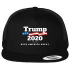 Trump 2020 - Keep America Great Printed Black Hat Flat Bill Yupoong Trucker Cap