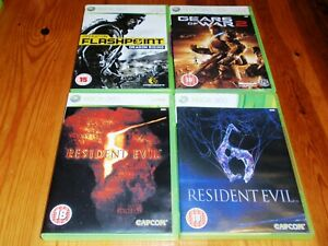 4 XBox360 Games Bundle - Operation Flashpoint, Gears of War, Resident Evil