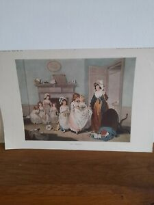 Vintage  Old Picture Print engraving The Romps