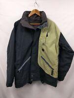 Quicksilver Mens Jacket Coat Black Proline Size Medium Waterproof Windproof #2A3