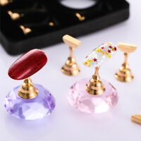 Magnetic Nail Art Practice Training Display Stand Acrylic Crystal Holders Shelf