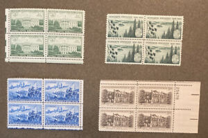 Us 1950s 4 Block Of 4 Stamps MNH SC 990, 1000, 1081, 1106