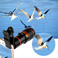 HD 12x Optical Zoom Camera Telescope Lens With Clip For iPhone/Phone Universal H