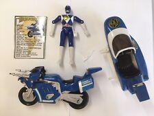 1993 Bandai Power Rangers Blue Ranger Triceratops Battle Bike Motorcycle