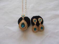 14k Yellow Gold Plated Rhinestone Fashion Jewellery Sets