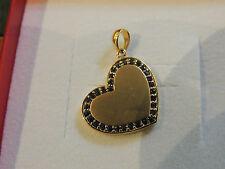 Pendentif coeur or 18 carats serti de saphirs