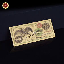 WR Unique 1863 American $100 Dollars Gold US Banknote Bill for Collection