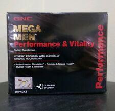 GNC Mega Men Performance  Vitality Vitapak Program -  30 Packets - Free Shipping