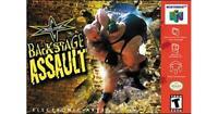 WCW Backstage Assault Nintendo 64 N64 Game Used