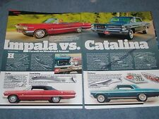 1963 Chevrolet Impala Pontiac Catalina Comparison Article 409 421