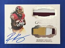 2017 Flawless ROBERT KELLEY Dual Patch Auto Autograph 2+3-Color Redskins /10