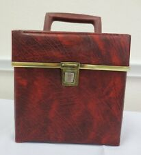 Vintage 45 Record Carry Case Red Vinyl 50's 60's 7 inch records