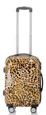 Hartschalen Reise Koffer Trolley Handgepäck Gr.M 56x36x23cm - BB Leopard Muster