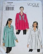 Vogue Pattern V9048 Fitted Snap-Closure Tunic (Size 16-18-20-22-24) New