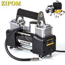 ZIPOM Double Cylinder 12v Car Air Compressor 150PSI Tyre Inflator Pump 80L/Min