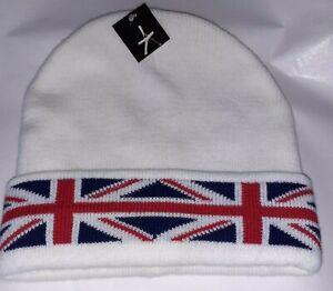 PRIMARK UK FLAG  BEANIE HAT WARM WORK WINTER KNITTED WOOLY-BNWT