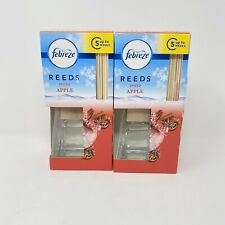 2 Febreze Spiced Apple Reed Diffuser Scented Oil RARE