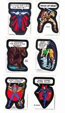 1974 & 1975 Marvel Comics SUPER HERO STICKERS - 6 different