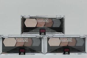 3x Maybelline CLimited Edition Shadow Quad - 800 Makeover Mocha, .09oz