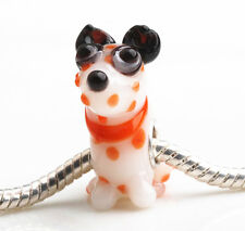 1pcs SILVER MURANO GLASS BEAD LAMPWORK Animal European Charm Bracelet DW216