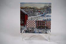 "Diane Phalen ""Holiday Airing"" Quilt Ceramic Tile 6""x6"""