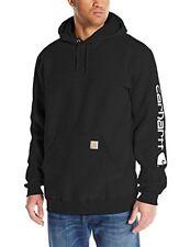 Carhartt Mens Big & Tall Signature Sleeve Logo Sweatshirt Black XXX Large