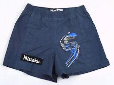 NITTAKU Table Tennis Women's Blue Gray Jersey Lined Shorts ~ Sz XL NWT