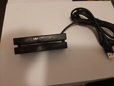 NEW MAGTEK USB CREDIT CARD SWIPE READER & 6' CABLE BLACK TRACK 1&2 21040140