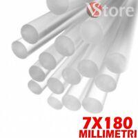 10 pz Colla Stick 7mm x 180mm Trasparente Per Pistola a Caldo Glue Incolla