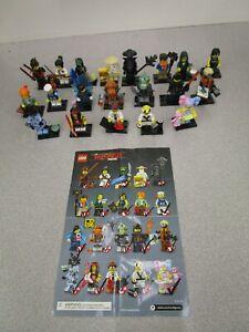 Lego Ninjago Movie Minifigures COMPLETE Lot Series 71019