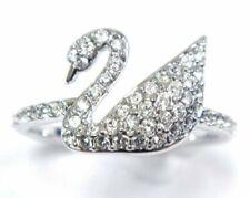 Iconic Swan Crystal Ring Size 4 EUR 48 2016 Swarovski Jewelry 5258398