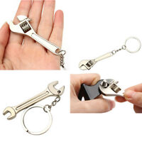 New Metal Adjustable Creative Tool Wrench Spanner Key Chain Ring Keyring Gift