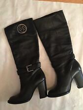 BCBG women's leather boots size 6 used