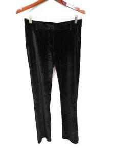 Betabrand S Black Velvet Dress Pants Yoga Pants Mid Rise Straight Leg Day Eve