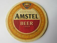 Beer Coaster ~*~ AMSTEL Lager ~ See STORE for 1000s of Coasters ~ Multi-Discount