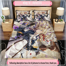 Quilt Cover Full Set Anime Violet Evergarden Double-bed Bed Sheet Bedding #Z5